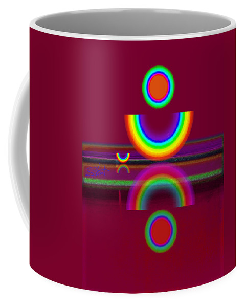 Reflections Coffee Mug featuring the painting Dark Heat by Charles Stuart