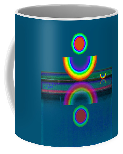 Reflections Coffee Mug featuring the painting Dark Mirror by Charles Stuart
