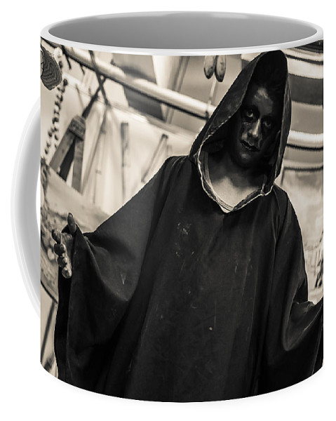 Mask Coffee Mug featuring the photograph Dark Performer 1 by Totto Ponce