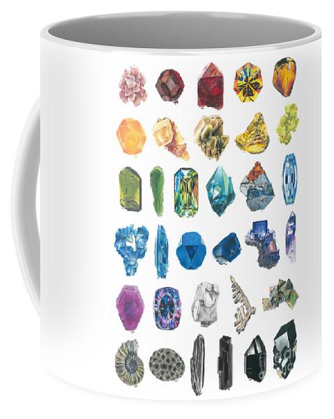 Colored Pencil Coffee Mug featuring the drawing Dark Rainbow by Abigail Kramer