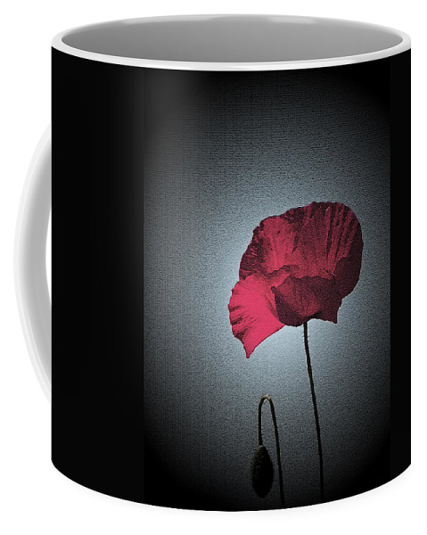 Poppy Coffee Mug featuring the photograph Dark Remembrance by Bel Menpes