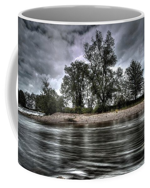Clearing Coffee Mug featuring the photograph Dark Skies by FL collection