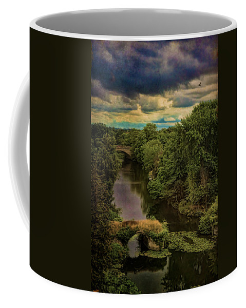 Avon Coffee Mug featuring the photograph Dark Skies Over The Avon by Chris Lord