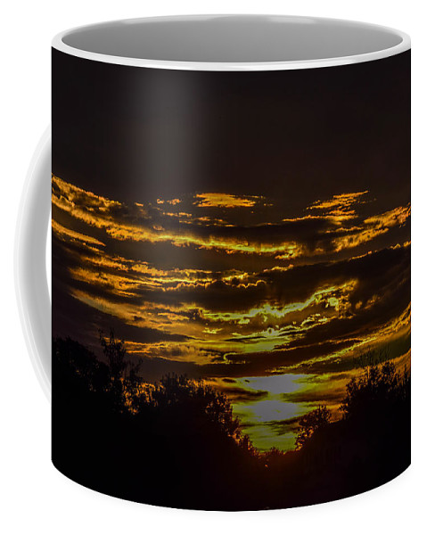 Dark Coffee Mug featuring the photograph Dark Sunrise by Michael Putthoff