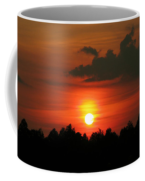 Nature Coffee Mug featuring the photograph Dark Sunset by Peg Urban