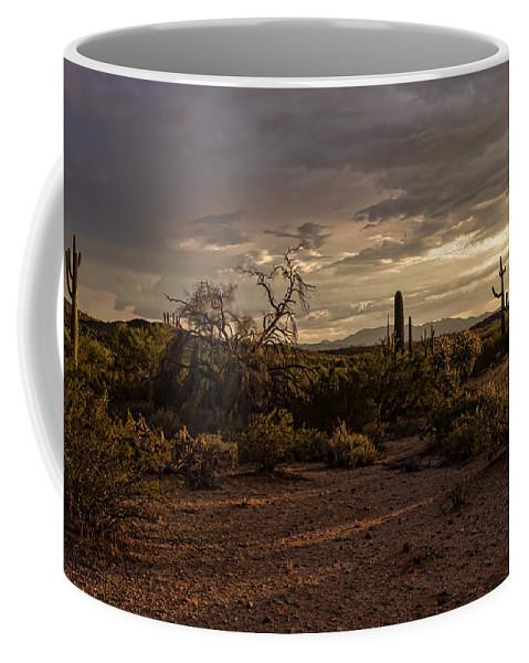 Arizona Coffee Mug featuring the photograph Dark Sunset by Ryan Seek