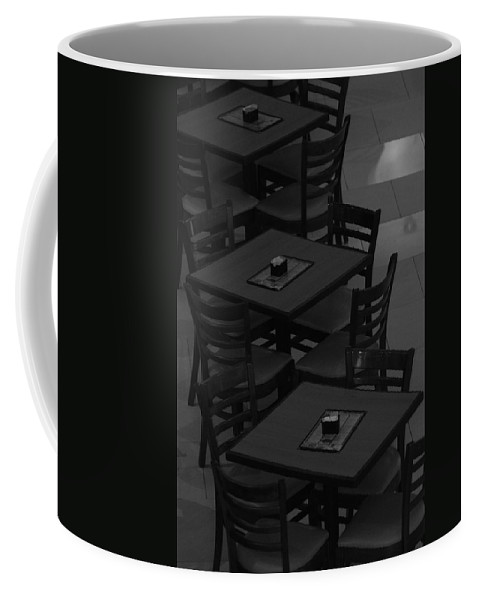 Tables Coffee Mug featuring the photograph Dark Tables by Rob Hans
