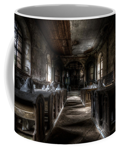 Ghostly Coffee Mug featuring the digital art Dark Thoughts by Nathan Wright