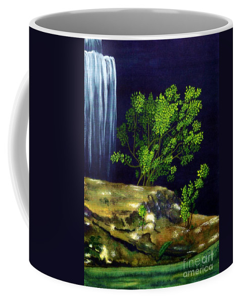 Fine Art Coffee Mug featuring the painting Dark Waters by Patricia Griffin Brett