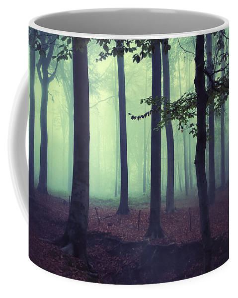 Woods Coffee Mug featuring the photograph Dark Woods by Carlierphotography Dick Carlier