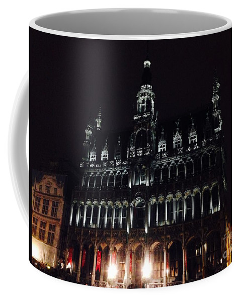 Brussels Coffee Mug featuring the photograph Darken 'city Hall by Jost Houk