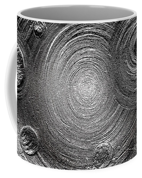 Darkness Coffee Mug featuring the painting Darkness Without End by Sofia Metal Queen