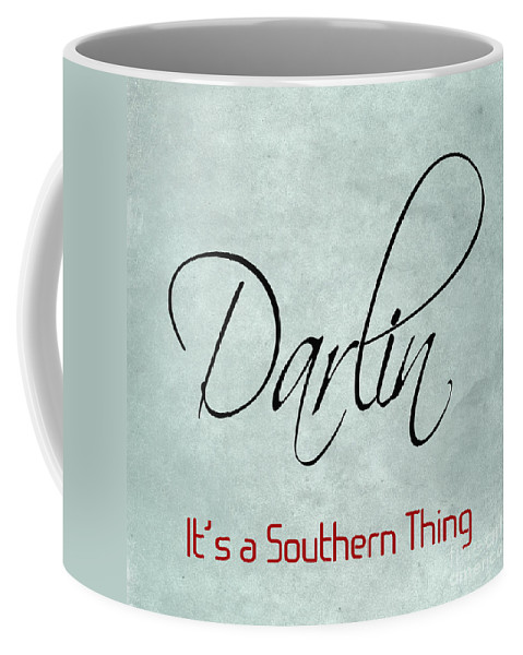 Darlin Coffee Mug featuring the digital art Darlin by Lee Owenby