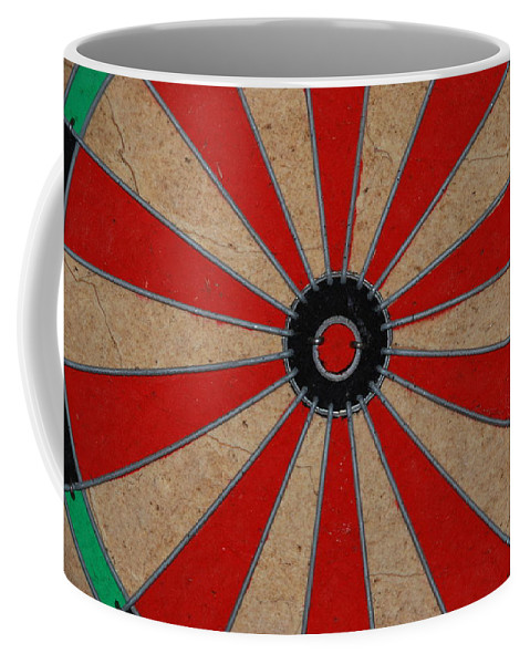 Art Coffee Mug featuring the photograph Dart Board by Rob Hans