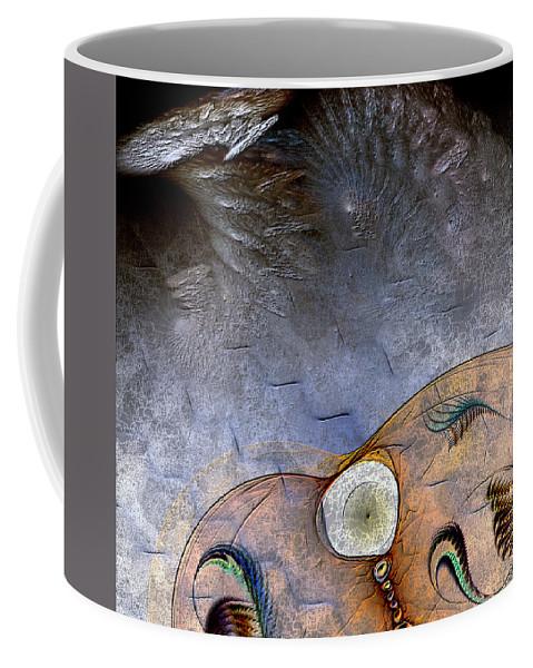 Abstract Coffee Mug featuring the digital art Darwin's Dilemma by Casey Kotas