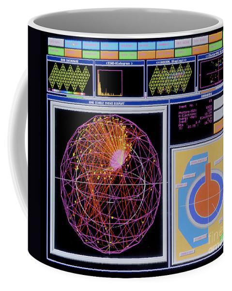 Science Coffee Mug featuring the photograph Data Capture, Sudbury Neutrino by Science Source