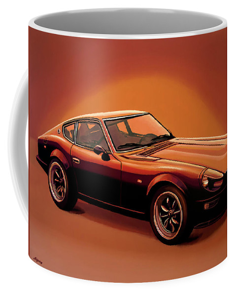 Datsun Coffee Mug featuring the painting Datsun 240z 1970 Painting by Paul Meijering