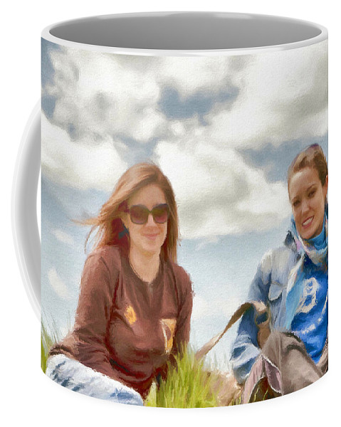 Canadian Coffee Mug featuring the painting Daughters by Jeffrey Kolker