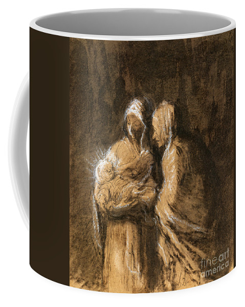 1850 Coffee Mug featuring the photograph Daumier: Virgin & Child by Granger