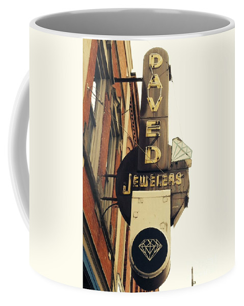 Daved Coffee Mug featuring the photograph Daved Jewelers by Michael Krek
