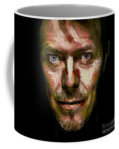 Portraits Coffee Mug featuring the digital art David Bowie by Dragica Micki Fortuna