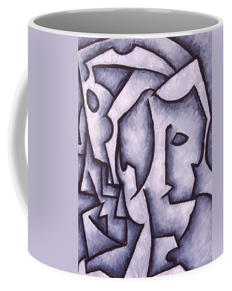 Abstract Coffee Mug featuring the painting David by Thomas Valentine