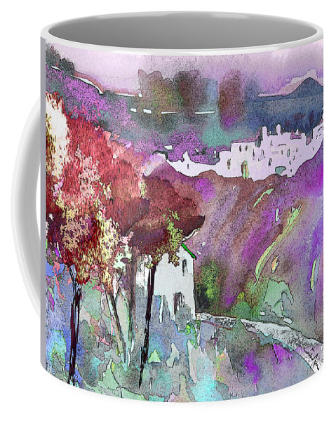 Watercolour Coffee Mug featuring the painting Dawn 01 by Miki De Goodaboom