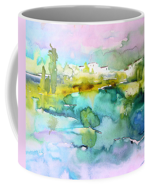 Watercolour Coffee Mug featuring the painting Dawn 02 by Miki De Goodaboom