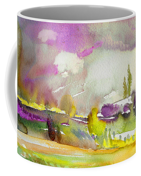 Watercolour Coffee Mug featuring the painting Dawn 03 by Miki De Goodaboom