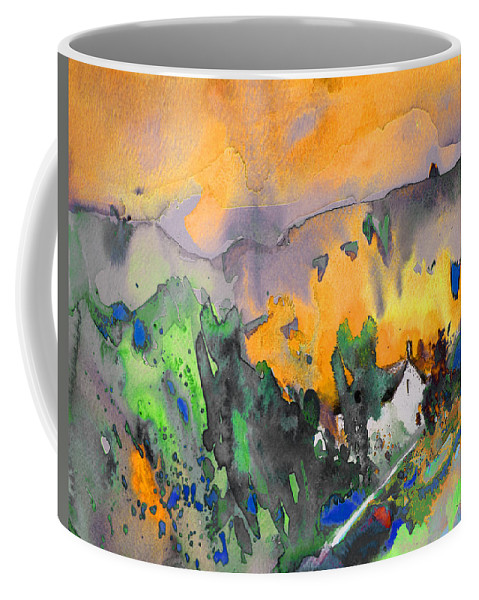 Water Colour Landscape Coffee Mug featuring the painting Dawn 07 by Miki De Goodaboom