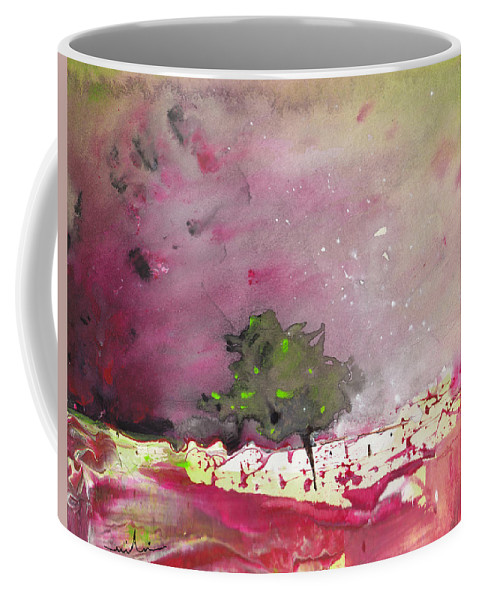 Watercolour Landscape Coffee Mug featuring the painting Dawn 09 by Miki De Goodaboom