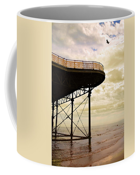 Victoria Coffee Mug featuring the photograph Dawn At Colwyn Bay Victoria Pier Conwy North Wales Uk by Mal Bray