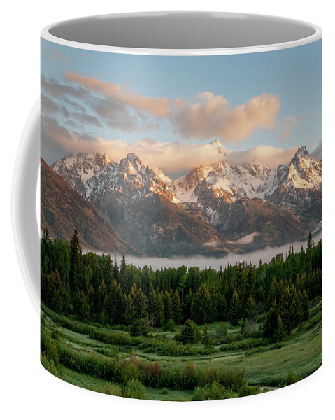 Sunrise At Grand Teton National Park Coffee Mug featuring the photograph Dawn At Grand Teton National Park by Brian Harig