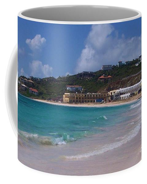 Dawn Beach Coffee Mug featuring the photograph Dawn Beach by Debbi Granruth