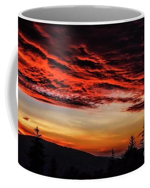 Sunrise Coffee Mug featuring the photograph Dawn Over Big Spruce Knob by Thomas R Fletcher