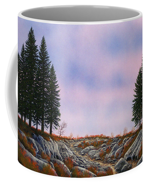 Landscape Coffee Mug featuring the painting Dawn Pacific Crest Trail by Frank Wilson