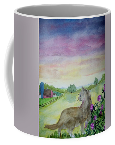 Landscape Coffee Mug featuring the painting Dawn Patrol by B Kathleen Fannin