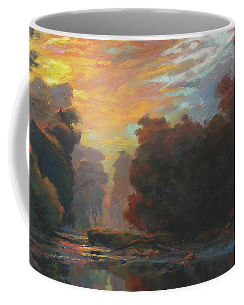 Country Coffee Mug featuring the painting Dawn by Steve Henderson