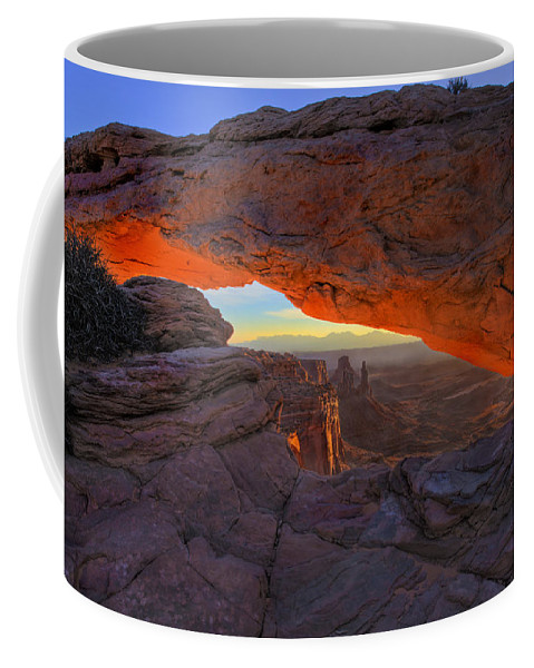 Mesa Arch Coffee Mug featuring the photograph Dawns Early Light by Mike Dawson