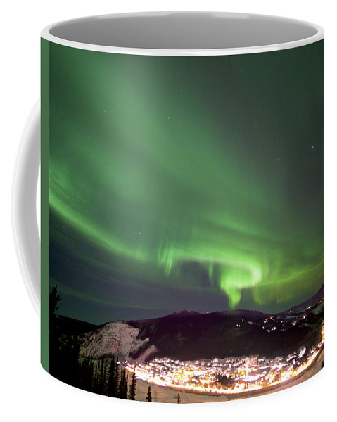 Dawson City Coffee Mug featuring the photograph Dawson City Lights by Craig Voth