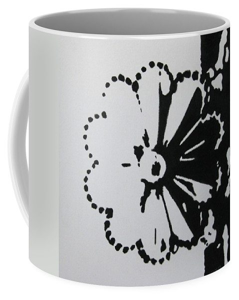 Abstract Coffee Mug featuring the painting Day And Night I by Lynet McDonald