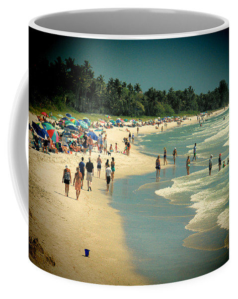 Beach Coffee Mug featuring the photograph Day At The Beach by Rosalie Scanlon