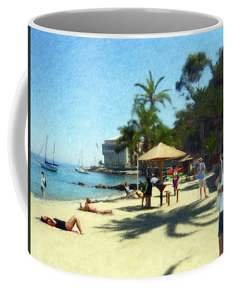 Beach Coffee Mug featuring the digital art Day At The Beach by Snake Jagger