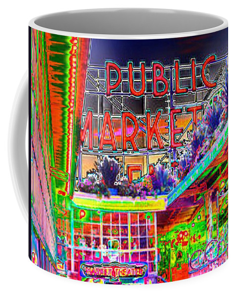 Seattle Coffee Mug featuring the photograph Day At The Market by Tim Allen