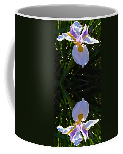 Daylily Coffee Mug featuring the painting Day Lily Reflection by Amy Vangsgard