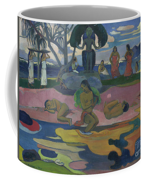 Gauguin Coffee Mug featuring the painting Day Of The God by Paul Gauguin