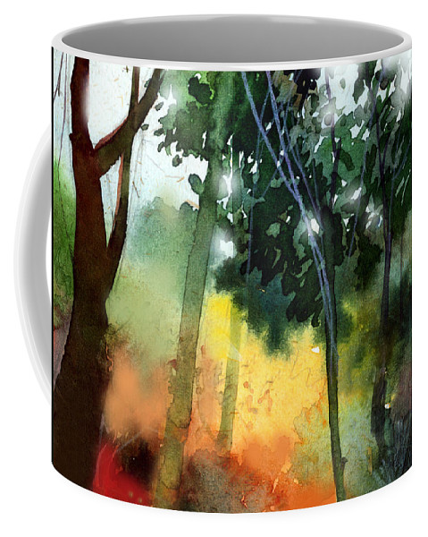 Water Color Coffee Mug featuring the painting Daybreak by Anil Nene