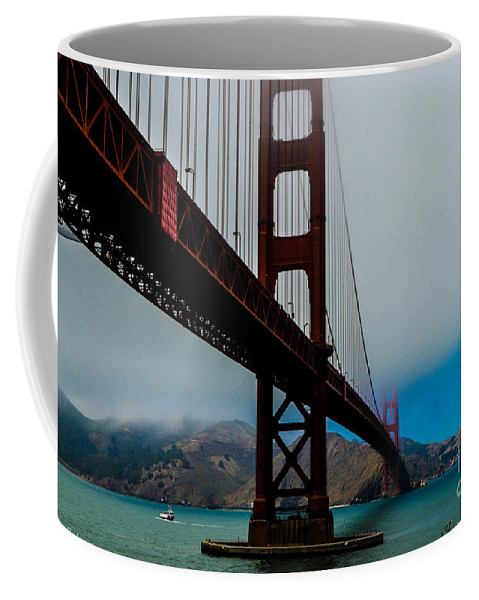 Golden Gate Bridge Coffee Mug featuring the photograph Daybreak At The Golden Gate by Tommy Anderson