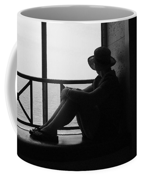 Black And White Coffee Mug featuring the photograph Daydreaming by Robert Meanor
