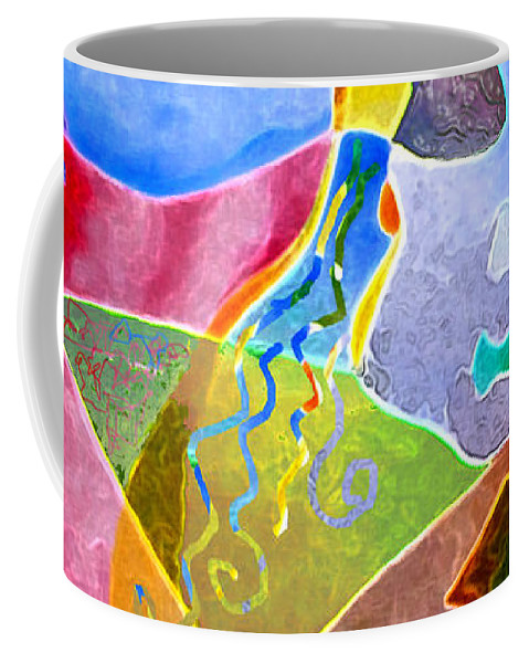 Coffee Coffee Mug featuring the painting Daydreams by Sally Trace